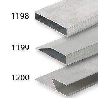 DEKOR DEKOR Aluminium Wandrij (model) H-profiel 1,20 m