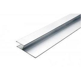 DEKOR DEKOR Aluminium Wandrij (model) H-profiel 1,20 m x 11 cm