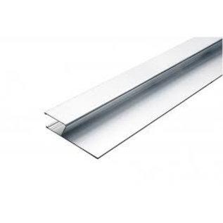 DEKOR DEKOR Aluminium wandrij (model) H-profiel 2,5 m