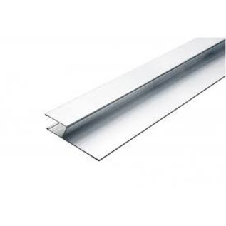 DEKOR Aluminium Plaster Gage Exterior  Surface H-profiel 2 m
