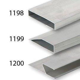 DEKOR DEKOR Aluminium Wandrij Standaard 1 m