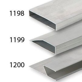 DEKOR DEKOR Aluminium Wandrij Standaard balk 1 m