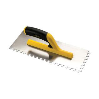 DEKOR Getande spaan Vierkant getand, zachte handgreep - open uiteinde 120 mm x 300 mm (8 x 8)
