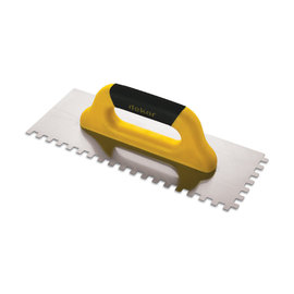 DEKOR Notched Trowel Square Notched, Soft Handle - Closed End 40 cm (8x8)