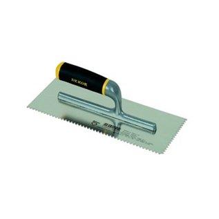 DEKOR DEKOR Lijmkam open handvat - Aluminium handvat, 120x300 mm V-getand RVS