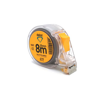 DEKOR STAINLES STEEL TAPE MEASURE HELIX MODEL 8MX25MM mm