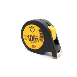 DEKOR TAPE MEASURE SOFT TOUCH HELIX MODEL 10MX25MM