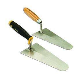 DEKOR PLASTER  AND BRICK TROWEL - Wooden Handle 260 mm x 125 mm Springsteel
