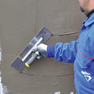 DEKOR DEKOR Plaster Trowel Aluminium Handle - Soft Grip 350 mm X 75 mm - Stainless Steel