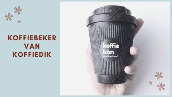 Nieuw! Meeneembeker gemaakt van koffiegruis