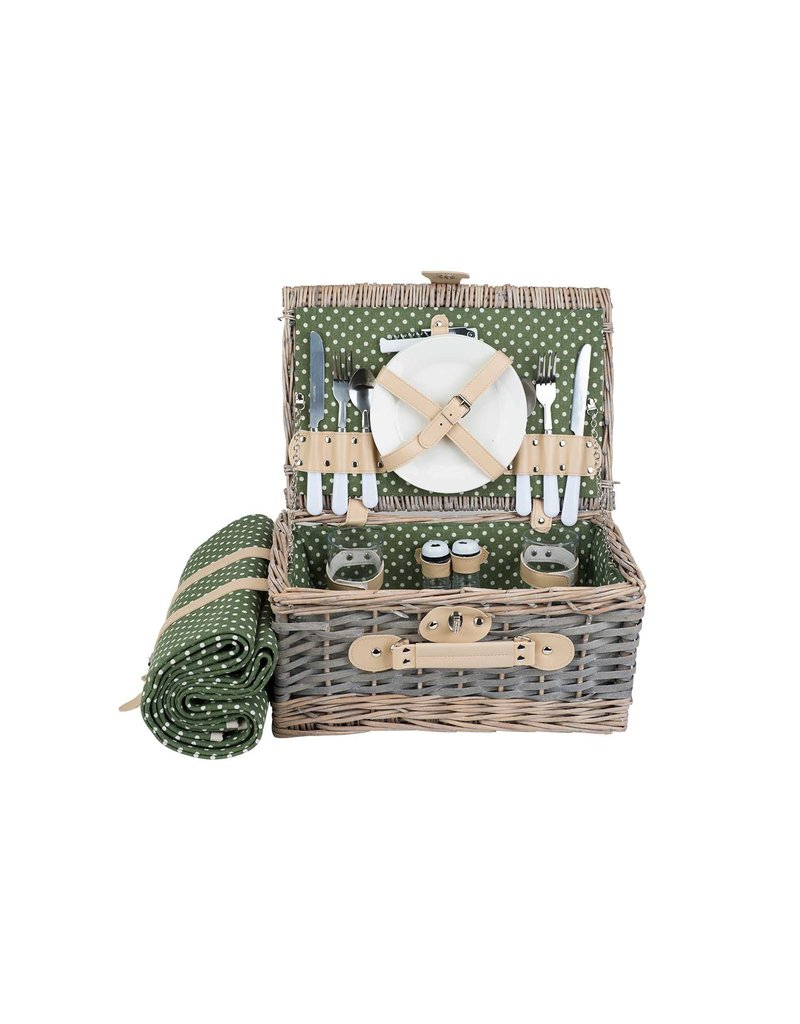Cosy & Trendy Picnic basket 2 people with blanket