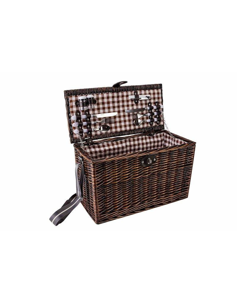 Cosy & Trendy Picknickmand 4 personen met wijnglazen en -opener