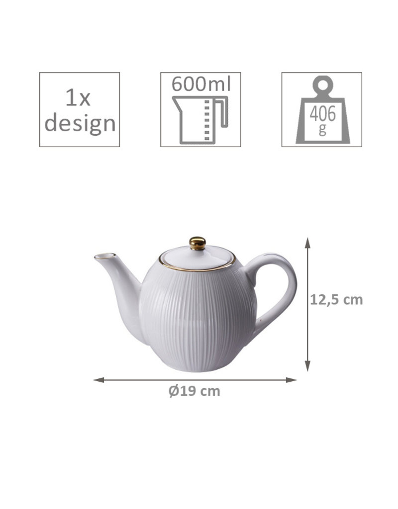 Tokyo Design Tokyo Design Theekan Nippon White Lines 0,6L