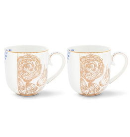 Coffee & Tea Cup Royal White - Set of 2