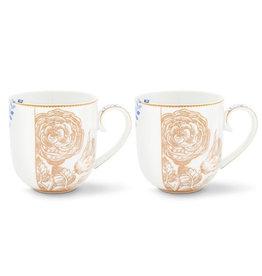 PIP Studio Koffie- en Theebeker Royal White - Set van 2