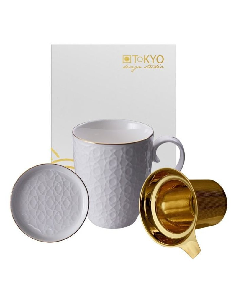 Tokyo Design Tokyo Design Tea cup Nippon White with filter