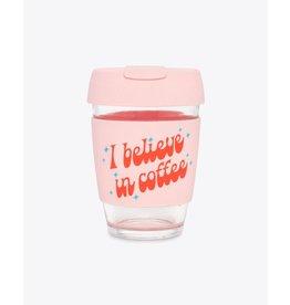 Ban.do Glass Travel Mug - I Believe in Coffee