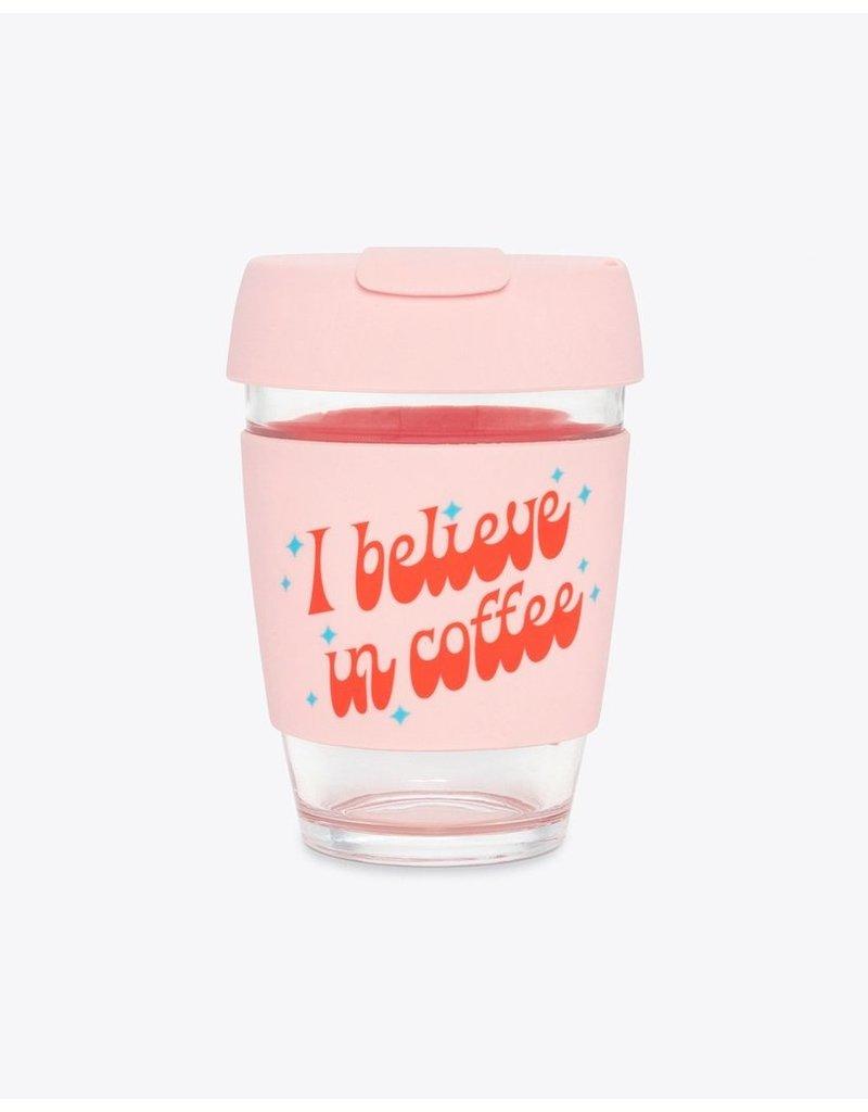 Ban.do Ban.do Glass Travel Mug - I Believe in Coffee