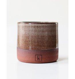 Libelia Keramiek Mug in red clay - grey-brown