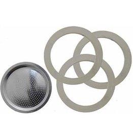 Bialetti Filterplaatje & Rubberen Ringen 3/4 kops