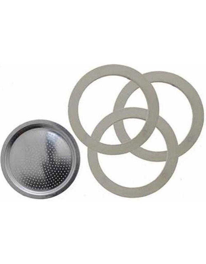 Bialetti Bialetti Filter Plate & x Rubbeer Rings 3/4 cup