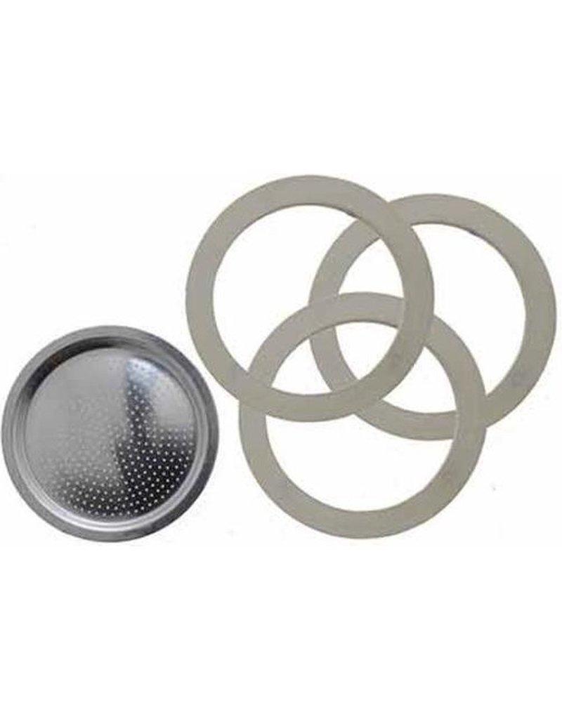 Bialetti Bialetti  Filterplaatje & Rubberen Ringen 3/4 kops