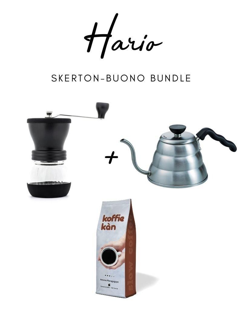 Hario Set Hario Skerton Koffiemolen + Waterkoker