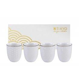 Tokyo Design Beker Nippon White - Set van 4