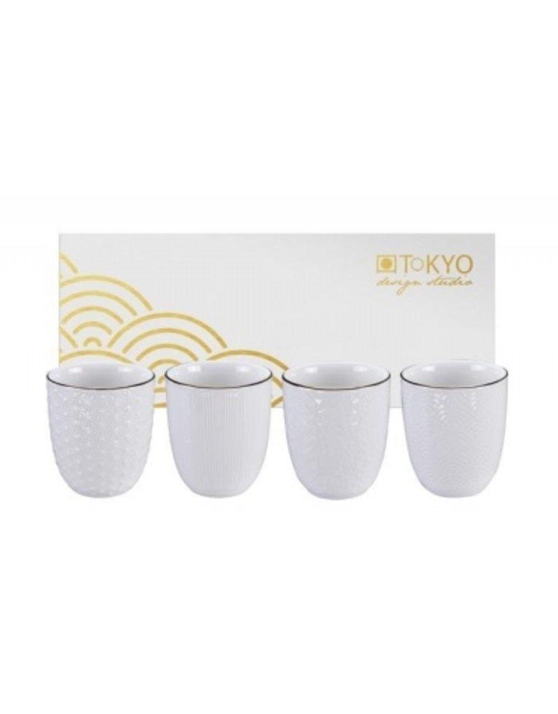 Tokyo Design Tokyo Design Nippon White - Set de 4 Tasses Cadeau