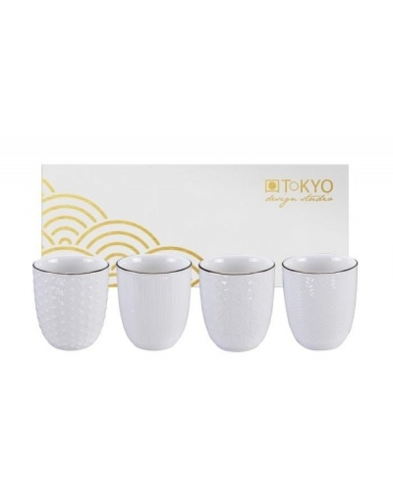 Tokyo Design Tokyo Design Nippon White - Set of 4 mugs in a gift box