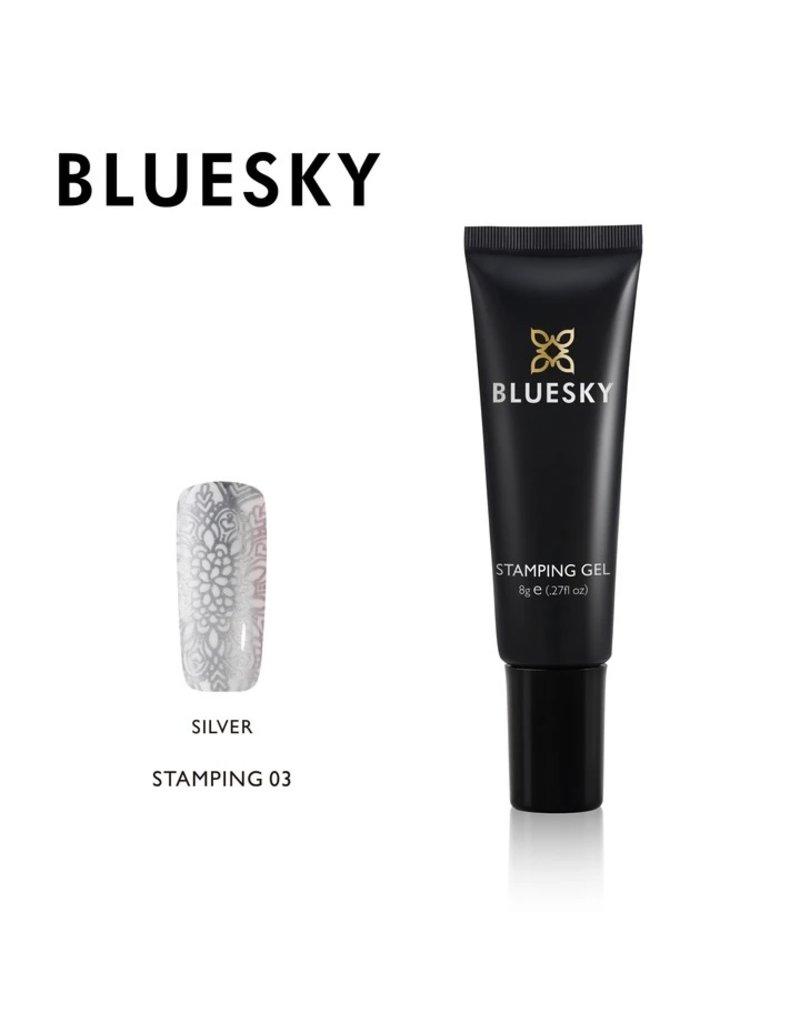 Bluesky Stamping Gel 03 Zilver