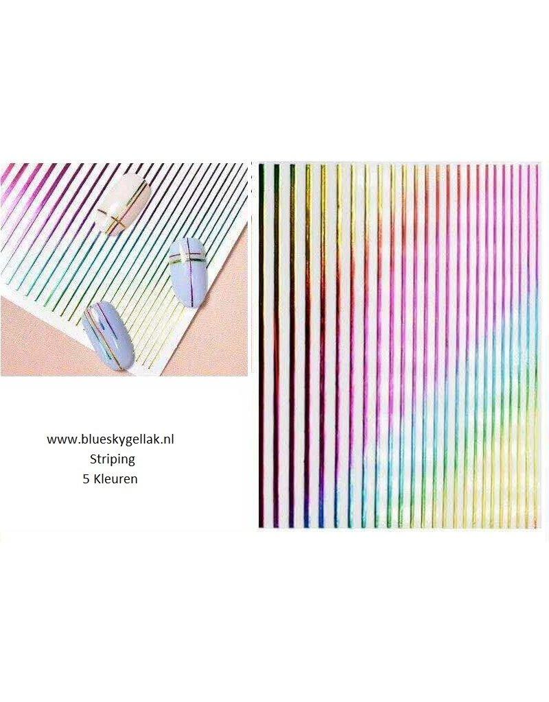 4 kleuren Striping