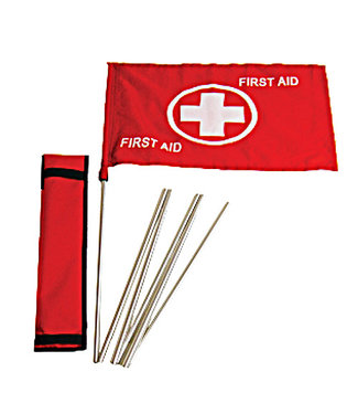 ZÜCA Flag, First Aid, with pole and pouch