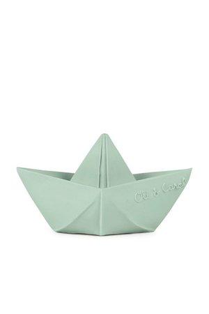 Oli & Carol Badspeeltje 'Origami boat' mint
