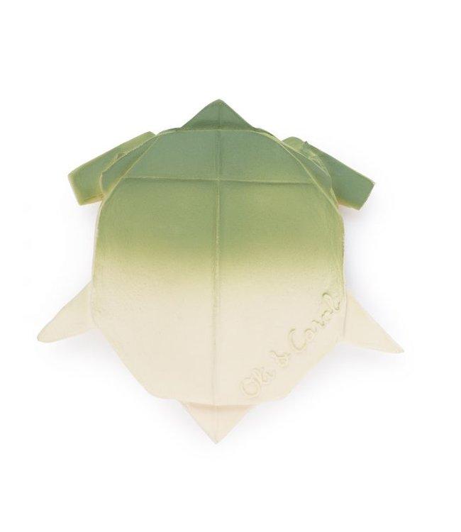 Origami bath toy - teether turtle