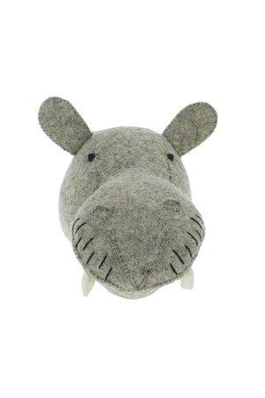 Fiona Walker England Animal head mini - hippo