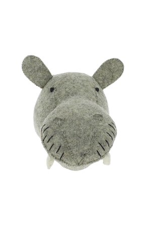 Fiona Walker England Dierenhoofd mini - nijlpaard