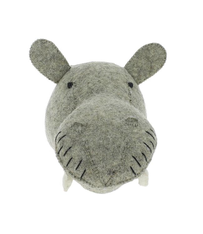 Animal head mini - hippo