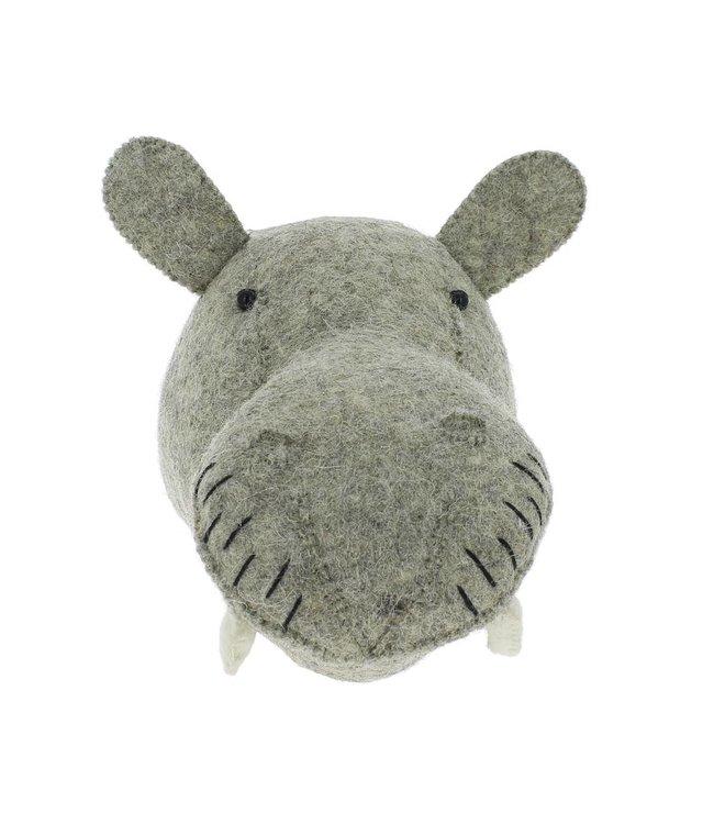 Dierenhoofd mini - nijlpaard