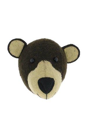 Fiona Walker England Animal head mini - brown bear