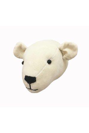 Fiona Walker England Dierenhoofd mini - ijsbeer