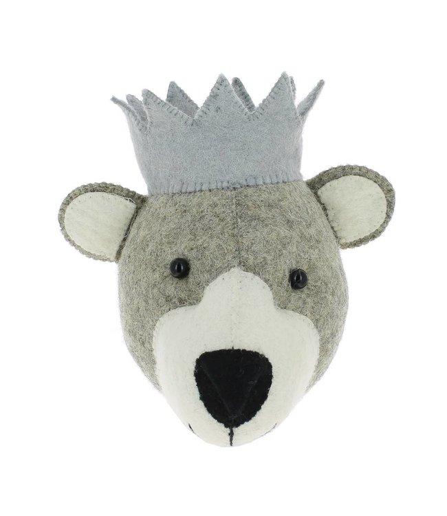 Animal head mini - bear with crown