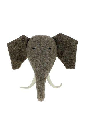 Fiona Walker England Dierenhoofd - olifant met slagtanden