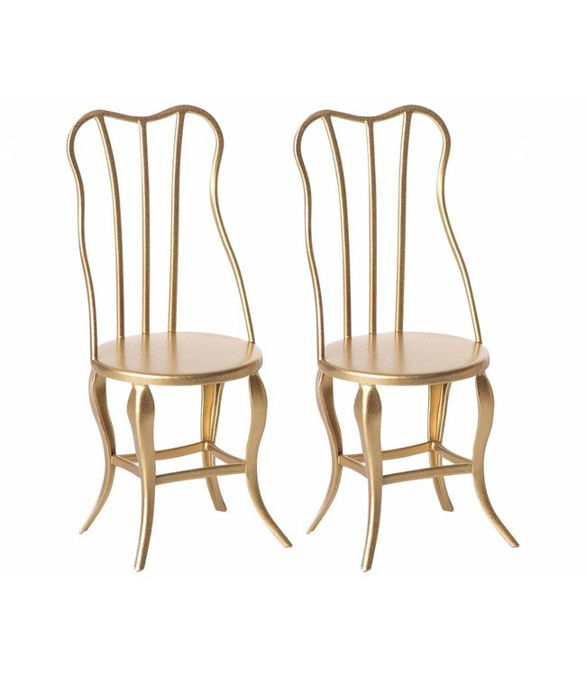 Micro vintage chair, 2 pack - gold