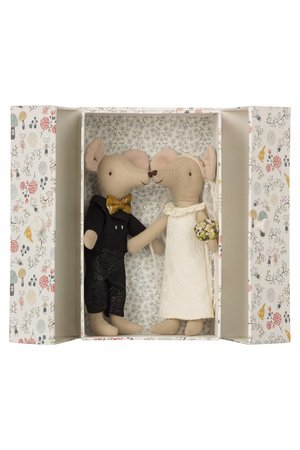 Maileg Wedding mice couple in box