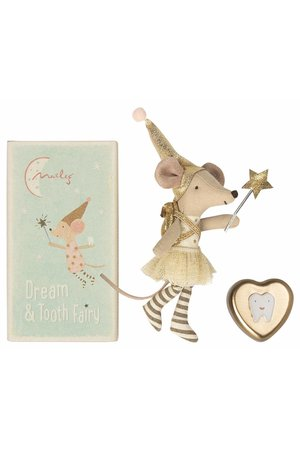 Maileg Tooth fairy, big sister mouse with metal box
