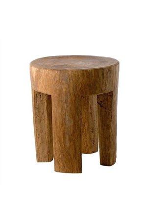Stool round 4 square legs