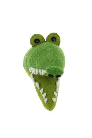 Fiona Walker England Dierenhoofd mini - krokodil