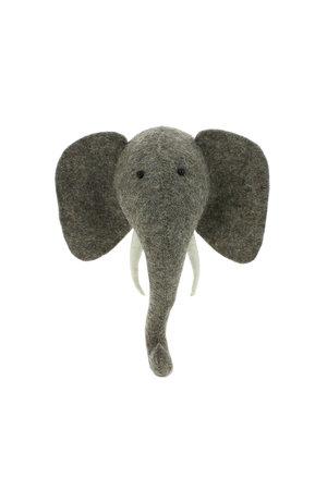 Fiona Walker England Dierenhoofd mini - olifant