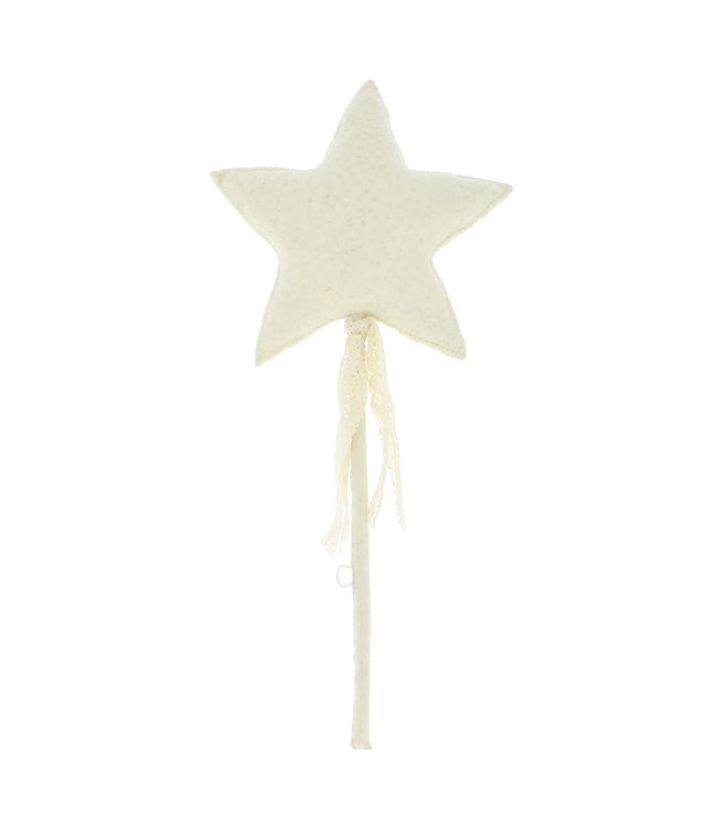 Wall decoration -  magical wand with ribbons and lace